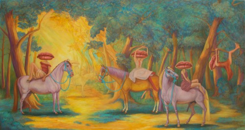 Amazon Country, 2011, Oil on Canvas, 100x200cm