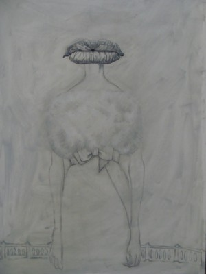 Miss Mouth, 2011, 70x50cm