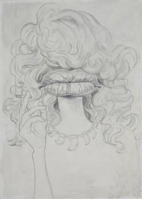 Lady Lips, 70x50cm