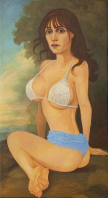 Natural Woman, 2011, Oil on Canvas, 100x55cm