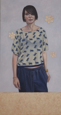 Frau Heinlein, 2011, Oil on Canvas, 150x80