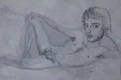 Nude Boy, reclining, 2011, 100x150