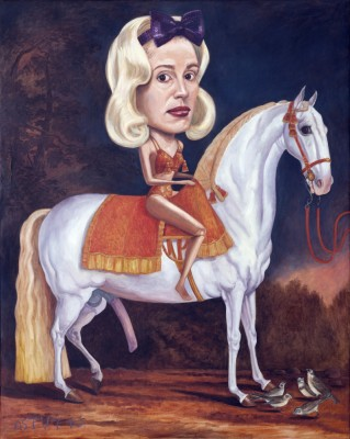 Miss Big Rides Il Magnifico, 2010, Oil on Canvas, 100x80cm