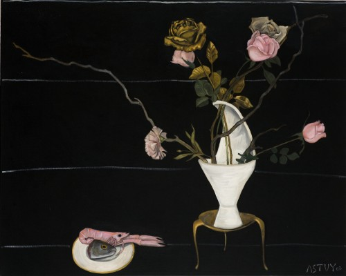 Stillleben mit Scampi, 2008, Oil on Canvas, 80x100cm