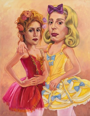Les Danseuses, 2012, Oil on Canvas, 90x70cm