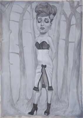 Tight Dress, 2011, 70x50cm